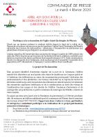 communiqué de presse – Église Saint Christophe de Mizoen